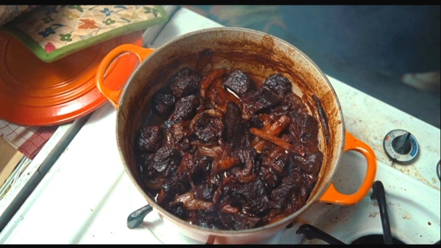 Remember that scene in Julie and Julia when she burned the boeuf bourguignon while sleeping?  So sad.