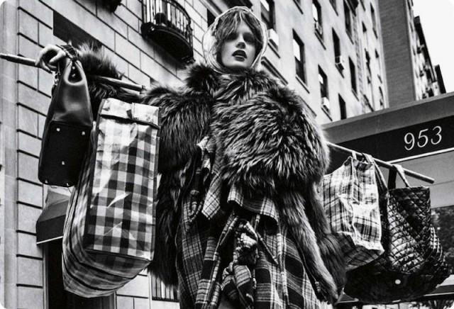 Bag Lady Chic via Vogue Germany